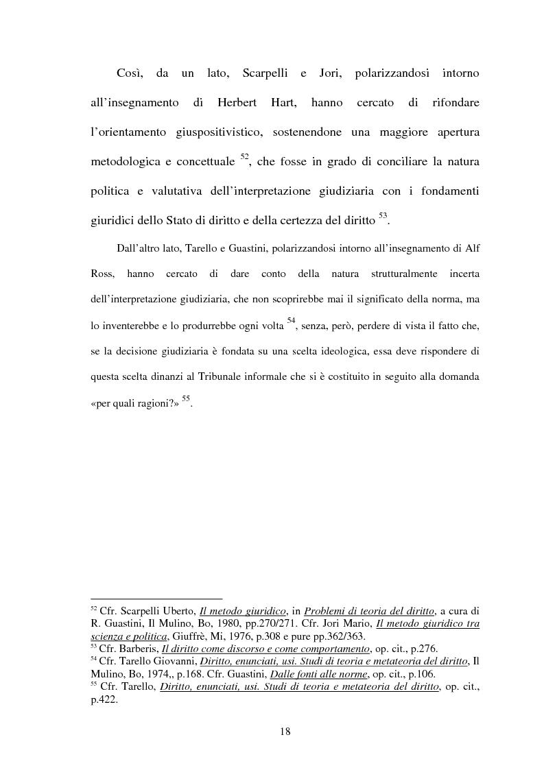 Anteprima della tesi: La Giustificazione. Motivazione e argomentazione nelle decisioni giudiziarie, Pagina 15