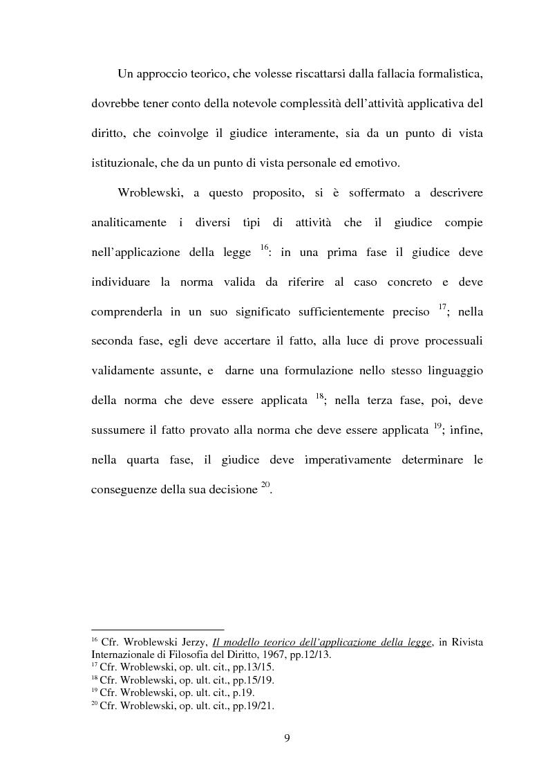 Anteprima della tesi: La Giustificazione. Motivazione e argomentazione nelle decisioni giudiziarie, Pagina 6