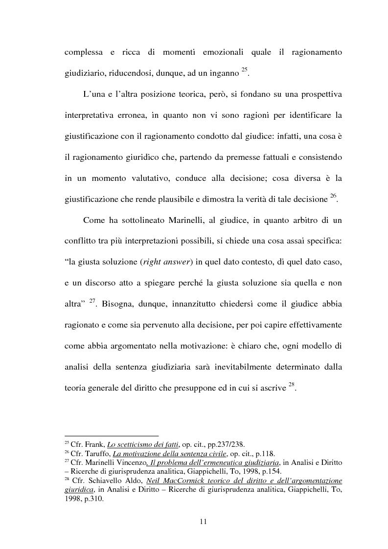 Anteprima della tesi: La Giustificazione. Motivazione e argomentazione nelle decisioni giudiziarie, Pagina 8