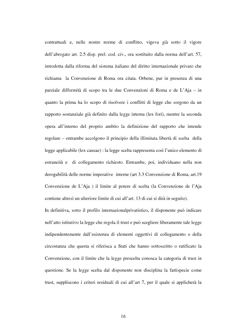 Anteprima della tesi: Il trust e la Convenzione de l'Aja del 1985 (L.364/89), Pagina 3