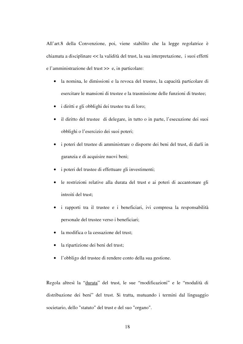 Anteprima della tesi: Il trust e la Convenzione de l'Aja del 1985 (L.364/89), Pagina 5
