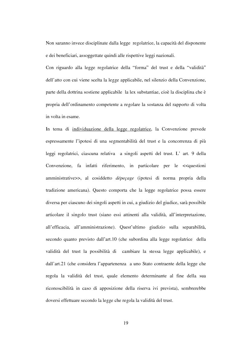 Anteprima della tesi: Il trust e la Convenzione de l'Aja del 1985 (L.364/89), Pagina 6