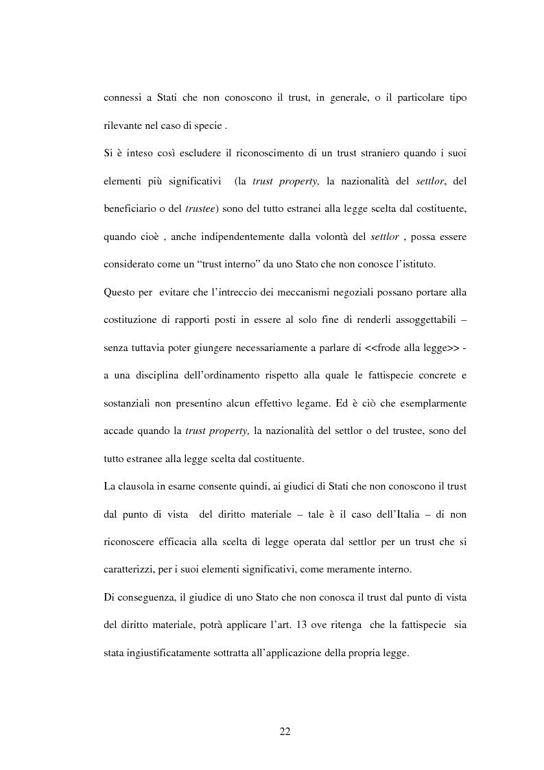 Anteprima della tesi: Il trust e la Convenzione de l'Aja del 1985 (L.364/89), Pagina 9