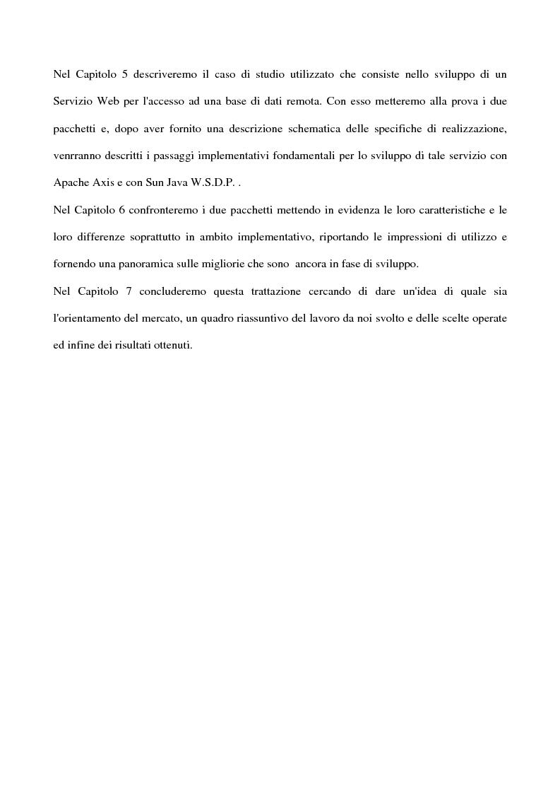 Anteprima della tesi: Metodologie di sviluppo per Web Services su piattaforme Java, Pagina 6