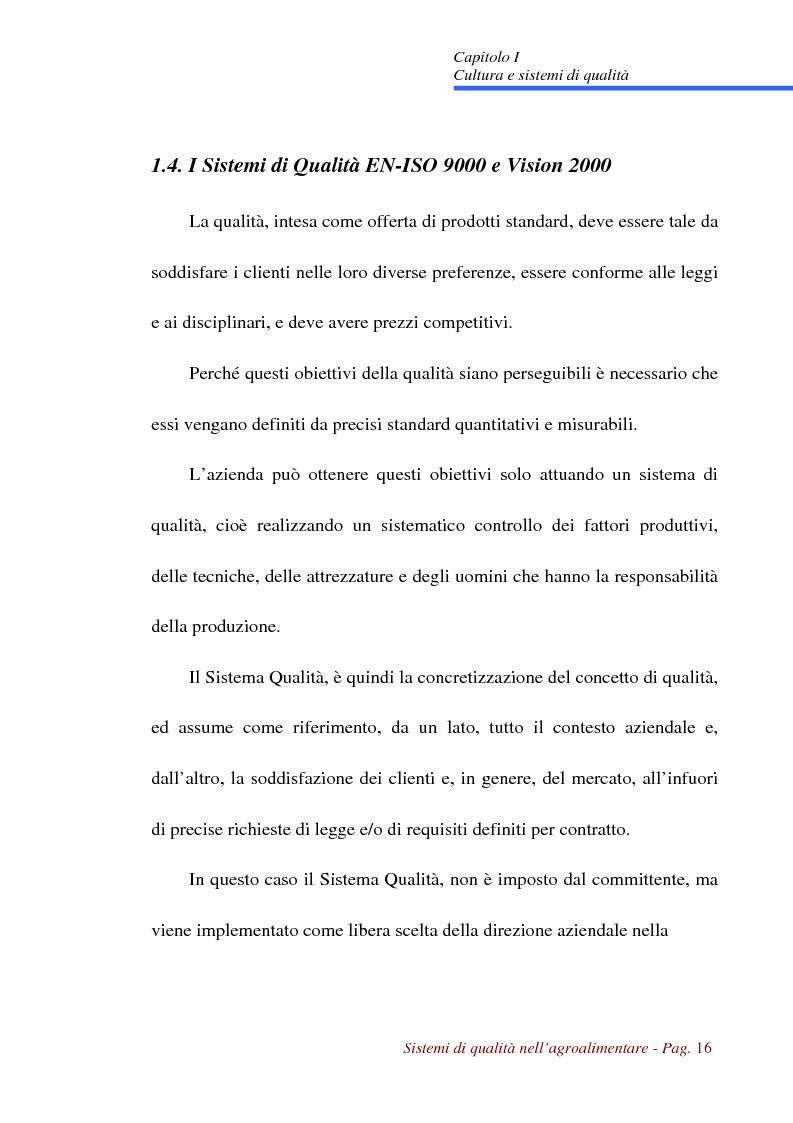 Anteprima della tesi: Sistemi di qualità nell'agroalimentare, Pagina 13