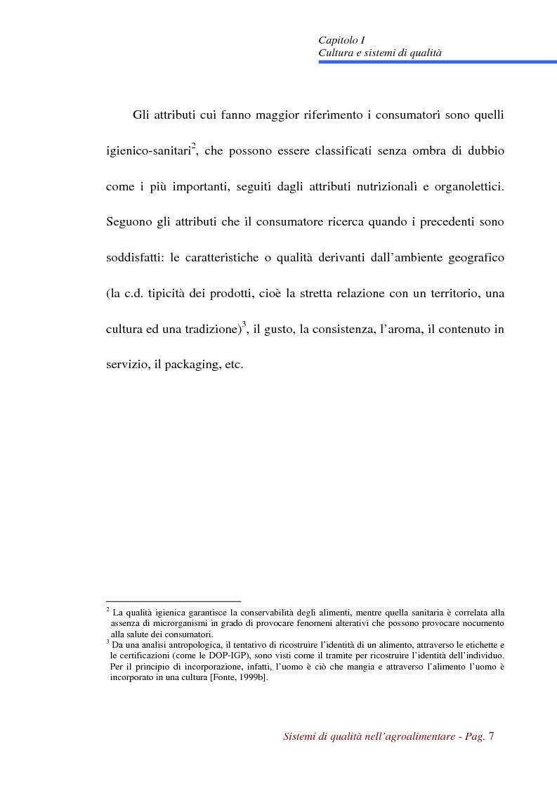 Anteprima della tesi: Sistemi di qualità nell'agroalimentare, Pagina 4