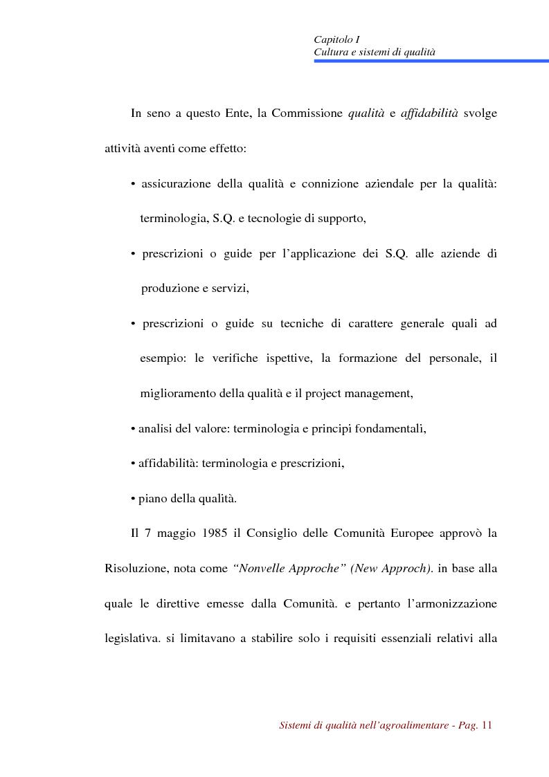 Anteprima della tesi: Sistemi di qualità nell'agroalimentare, Pagina 8