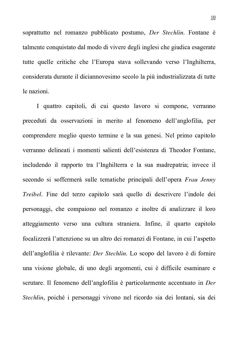 """Anteprima della tesi: L'anglofilia nel romanzo tedesco di Fontane """"Frau Jenny Treibel""""., Pagina 5"""