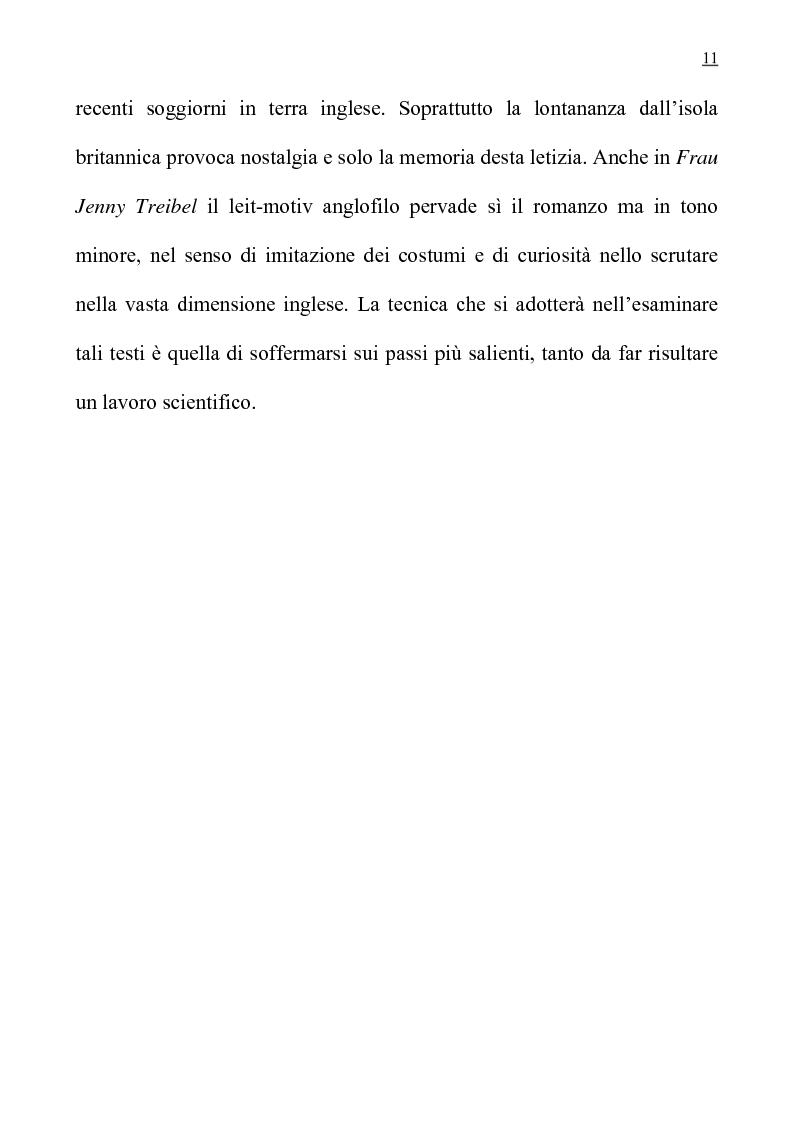 """Anteprima della tesi: L'anglofilia nel romanzo tedesco di Fontane """"Frau Jenny Treibel""""., Pagina 6"""