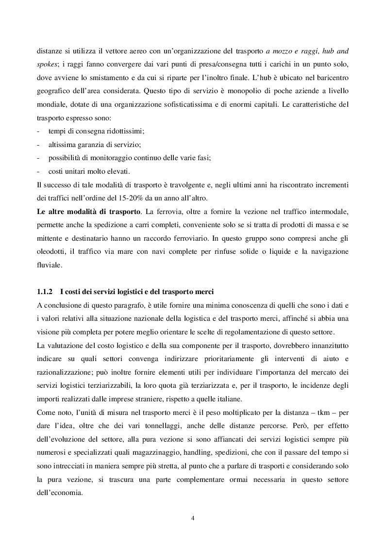 Anteprima della tesi: L'intermodalità tra programmazione in materia di trasporto merci ed equilibri territoriali: il caso Lombardia, Pagina 7