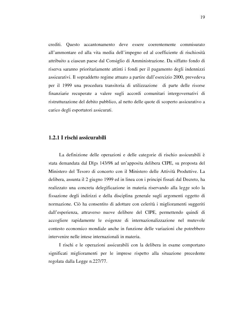 Anteprima della tesi: Strumenti di sostegno all'internazionalizzazione delle imprese: assicurazione e finanziamento agevolati, Pagina 15