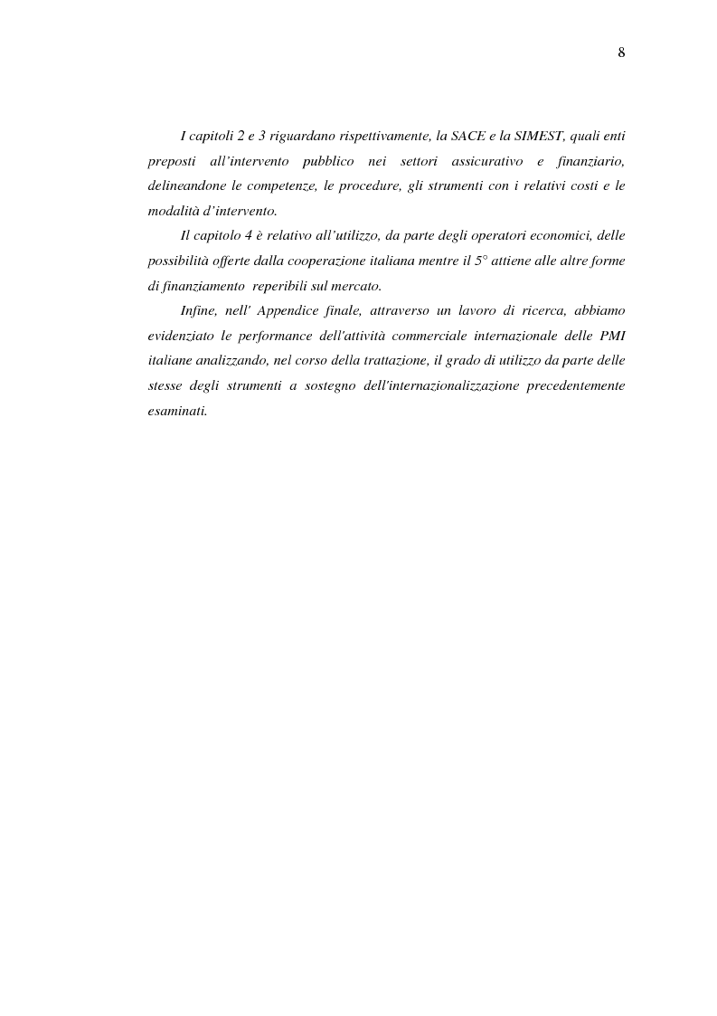 Anteprima della tesi: Strumenti di sostegno all'internazionalizzazione delle imprese: assicurazione e finanziamento agevolati, Pagina 4