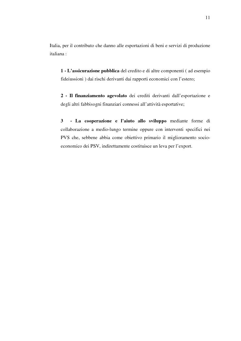 Anteprima della tesi: Strumenti di sostegno all'internazionalizzazione delle imprese: assicurazione e finanziamento agevolati, Pagina 7
