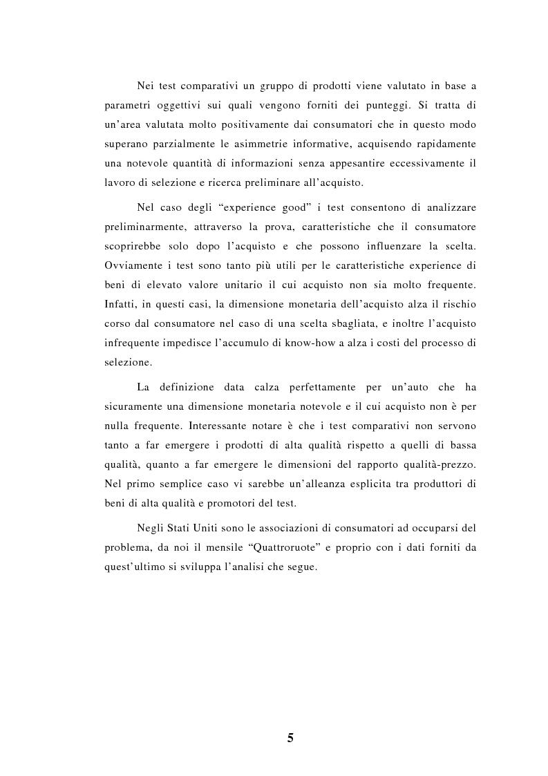 Anteprima della tesi: Elaborazioni e considerazioni sul problema affidabilità delle auto su dati inediti, Pagina 2