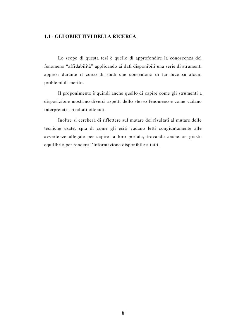 Anteprima della tesi: Elaborazioni e considerazioni sul problema affidabilità delle auto su dati inediti, Pagina 3