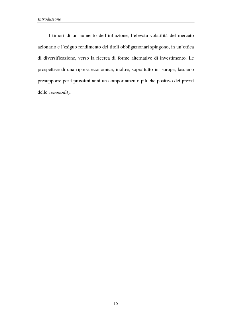 Anteprima della tesi: Commodities e Managed Futures, Pagina 10