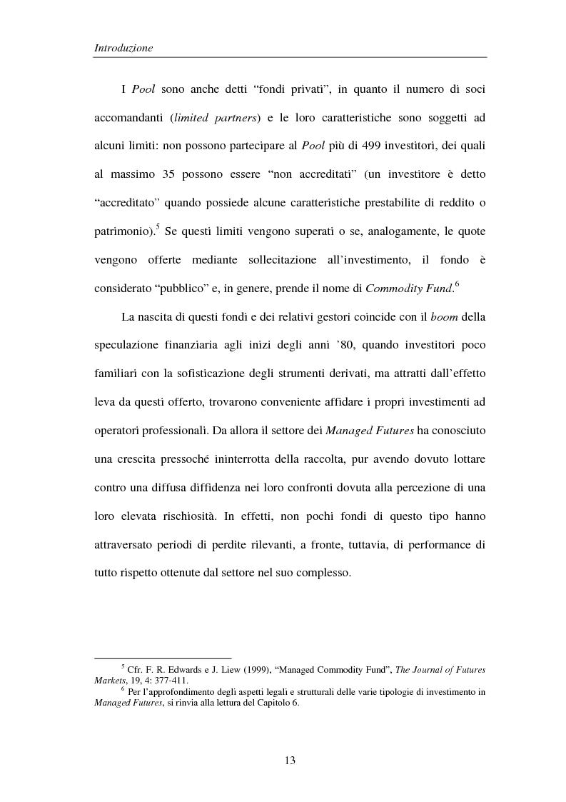 Anteprima della tesi: Commodities e Managed Futures, Pagina 8