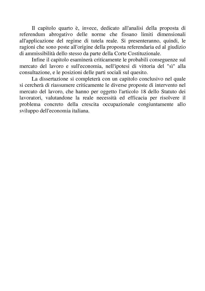 Anteprima della tesi: La revisione dell'articolo 18 dello Statuto dei Lavoratori, Pagina 4