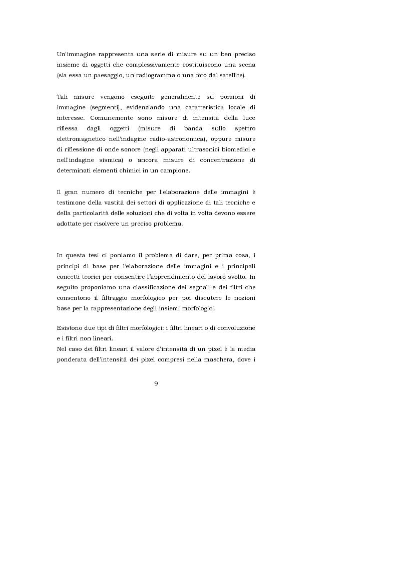 Anteprima della tesi: L'interpretazione teorica dei filtri morfologici nell'elaborazione delle immagini, Pagina 2