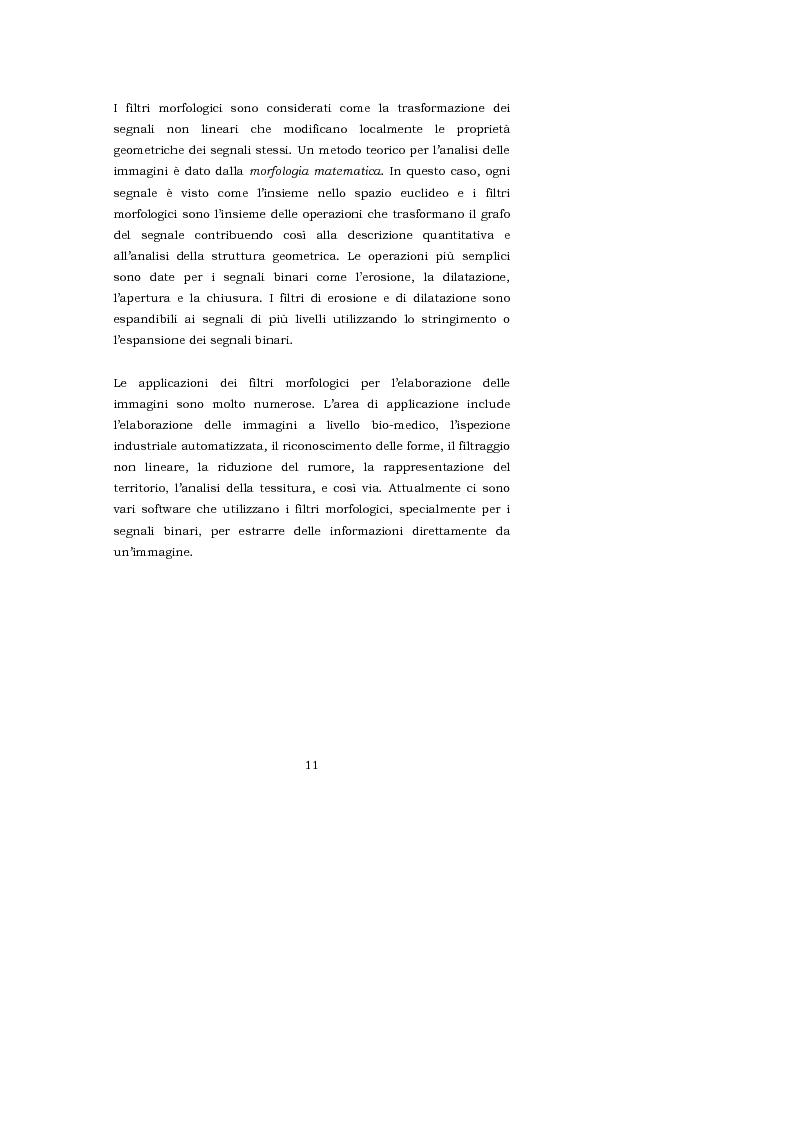 Anteprima della tesi: L'interpretazione teorica dei filtri morfologici nell'elaborazione delle immagini, Pagina 4