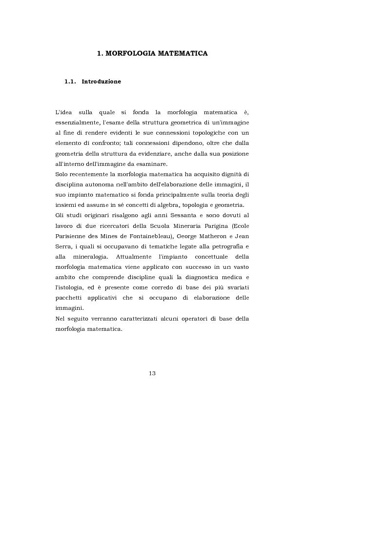 Anteprima della tesi: L'interpretazione teorica dei filtri morfologici nell'elaborazione delle immagini, Pagina 5