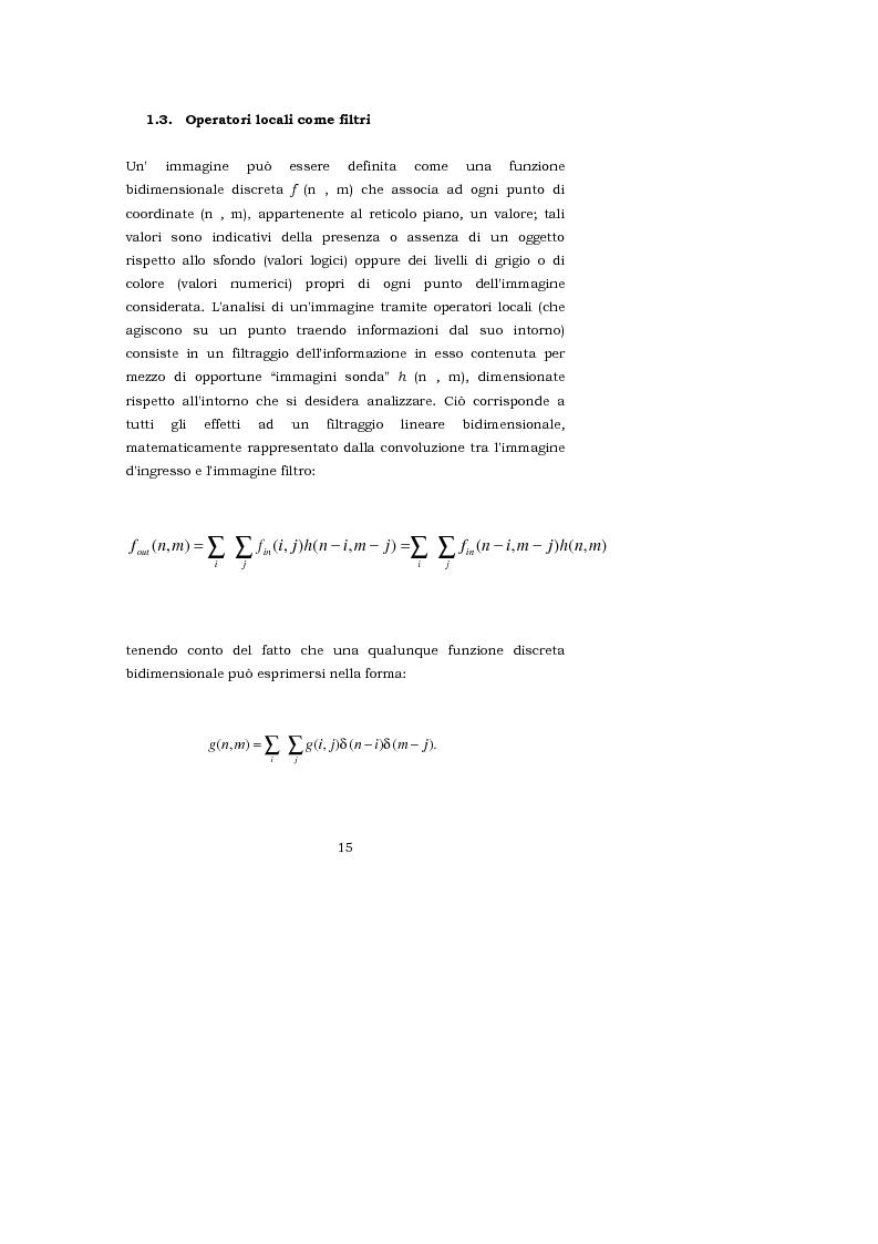 Anteprima della tesi: L'interpretazione teorica dei filtri morfologici nell'elaborazione delle immagini, Pagina 7