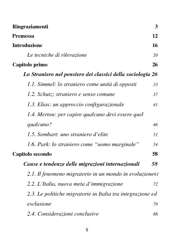 Indice della tesi: Rifugiati politici:un popolo in marcia. Percorsi di vita e di speranza da terre lontane a Badolato, Pagina 1