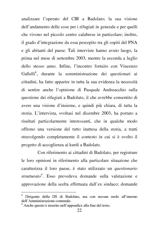 Anteprima della tesi: Rifugiati politici:un popolo in marcia. Percorsi di vita e di speranza da terre lontane a Badolato, Pagina 11