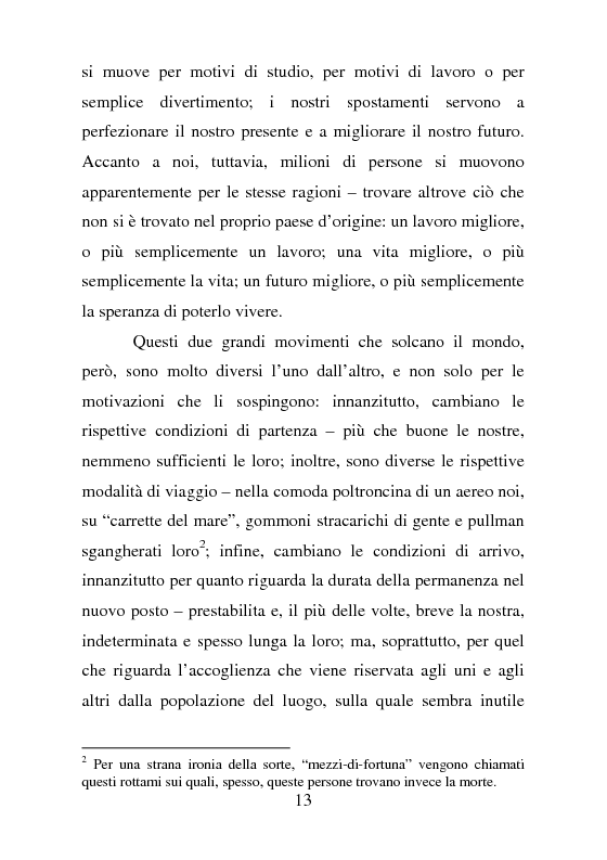 Anteprima della tesi: Rifugiati politici:un popolo in marcia. Percorsi di vita e di speranza da terre lontane a Badolato, Pagina 2