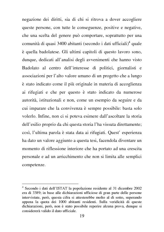 Anteprima della tesi: Rifugiati politici:un popolo in marcia. Percorsi di vita e di speranza da terre lontane a Badolato, Pagina 8