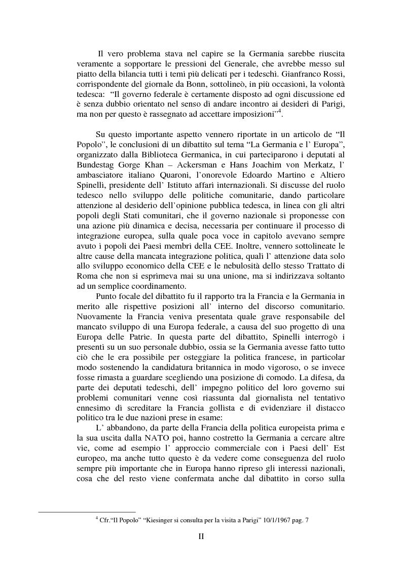 Anteprima della tesi: Il Popolo e la seconda richiesta di adesione della Gran Bretagna alla CEE, Pagina 2