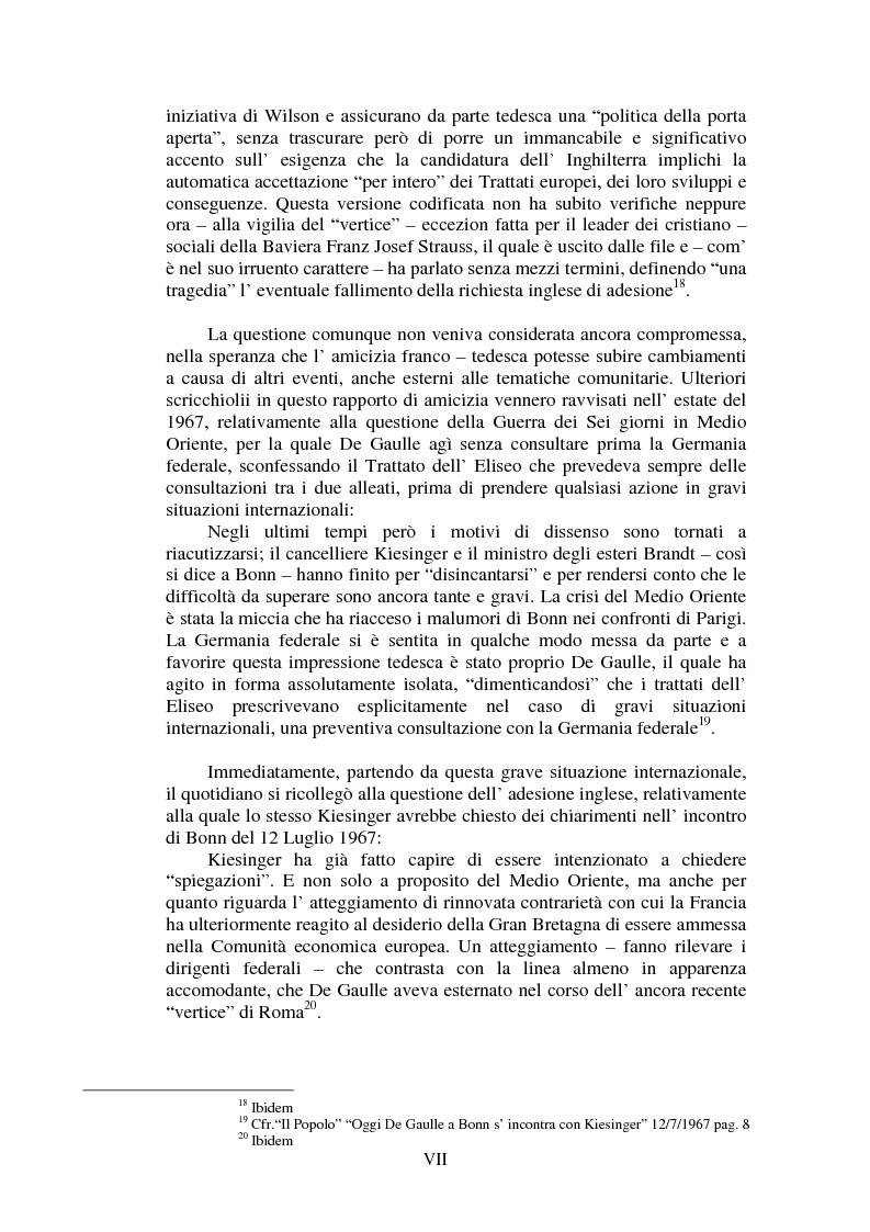 Anteprima della tesi: Il Popolo e la seconda richiesta di adesione della Gran Bretagna alla CEE, Pagina 7