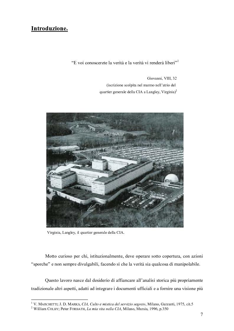 Anteprima della tesi: La storia della C.I.A. e della sua evoluzione nella cinematografia americana: dalla crisi e dalla critica sociale degli anni '70 alla riscossa degli anni di Reagan, Pagina 1