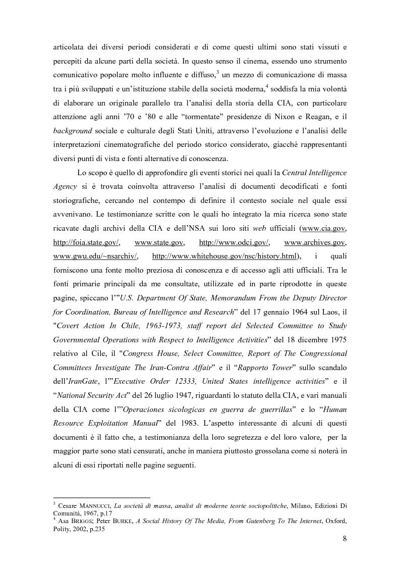 Anteprima della tesi: La storia della C.I.A. e della sua evoluzione nella cinematografia americana: dalla crisi e dalla critica sociale degli anni '70 alla riscossa degli anni di Reagan, Pagina 2