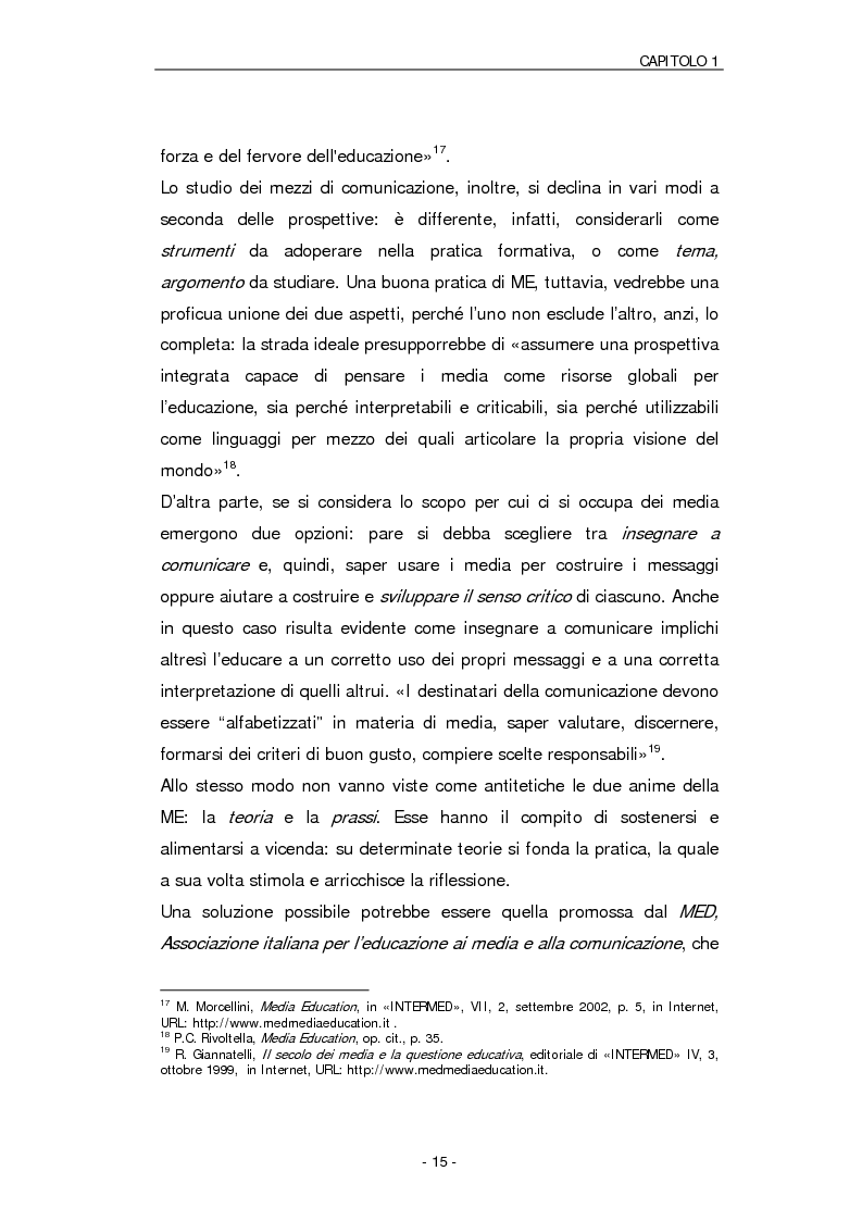Anteprima della tesi: Il ruolo della Media Education nell'educazione degli adulti. Stato della questione e analisi di un caso, Pagina 12