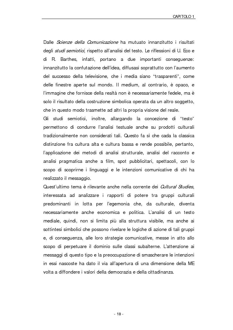 Anteprima della tesi: Il ruolo della Media Education nell'educazione degli adulti. Stato della questione e analisi di un caso, Pagina 15