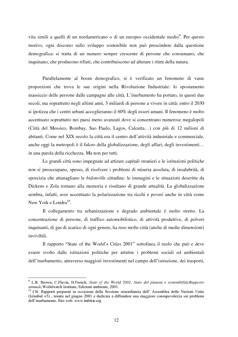 Anteprima della tesi: Sostenibilità e libero scambio: l´impegno multilaterale per uno sviluppo eco-compatibile, Pagina 12