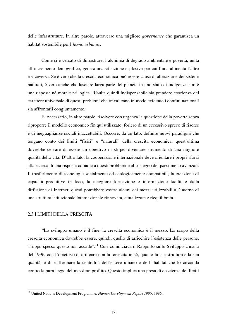 Anteprima della tesi: Sostenibilità e libero scambio: l´impegno multilaterale per uno sviluppo eco-compatibile, Pagina 13