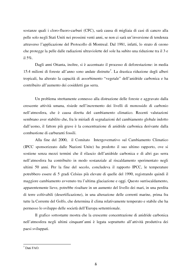 Anteprima della tesi: Sostenibilità e libero scambio: l´impegno multilaterale per uno sviluppo eco-compatibile, Pagina 8
