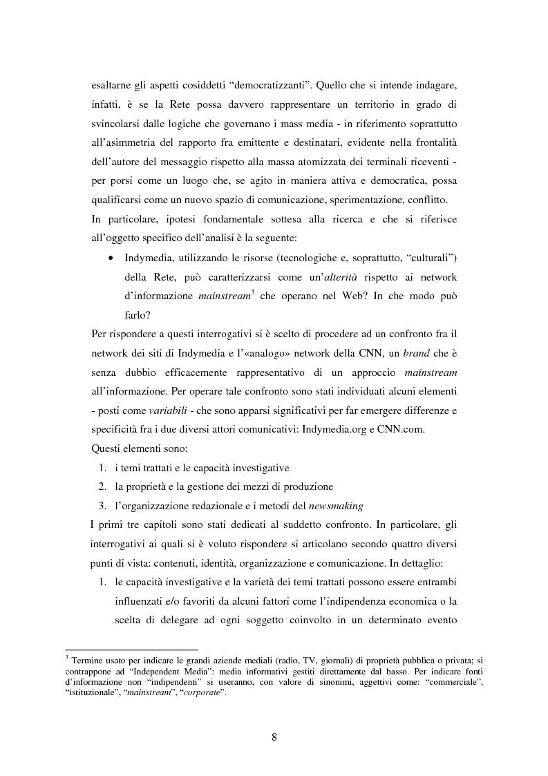 Anteprima della tesi: Indymedia.org: la rete ''intelligente'' del mediattivismo globale?, Pagina 2