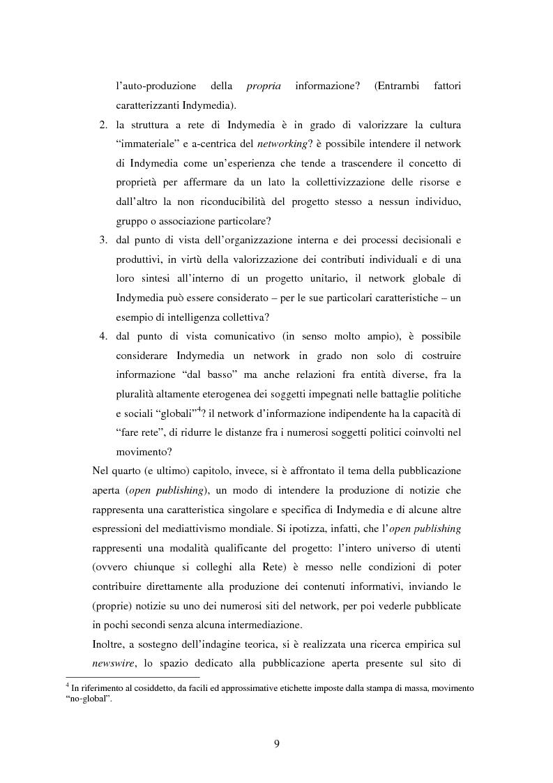 Anteprima della tesi: Indymedia.org: la rete ''intelligente'' del mediattivismo globale?, Pagina 3