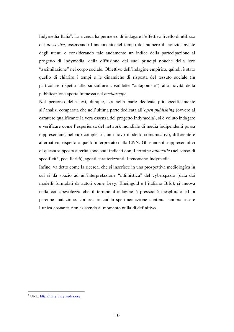 Anteprima della tesi: Indymedia.org: la rete ''intelligente'' del mediattivismo globale?, Pagina 4