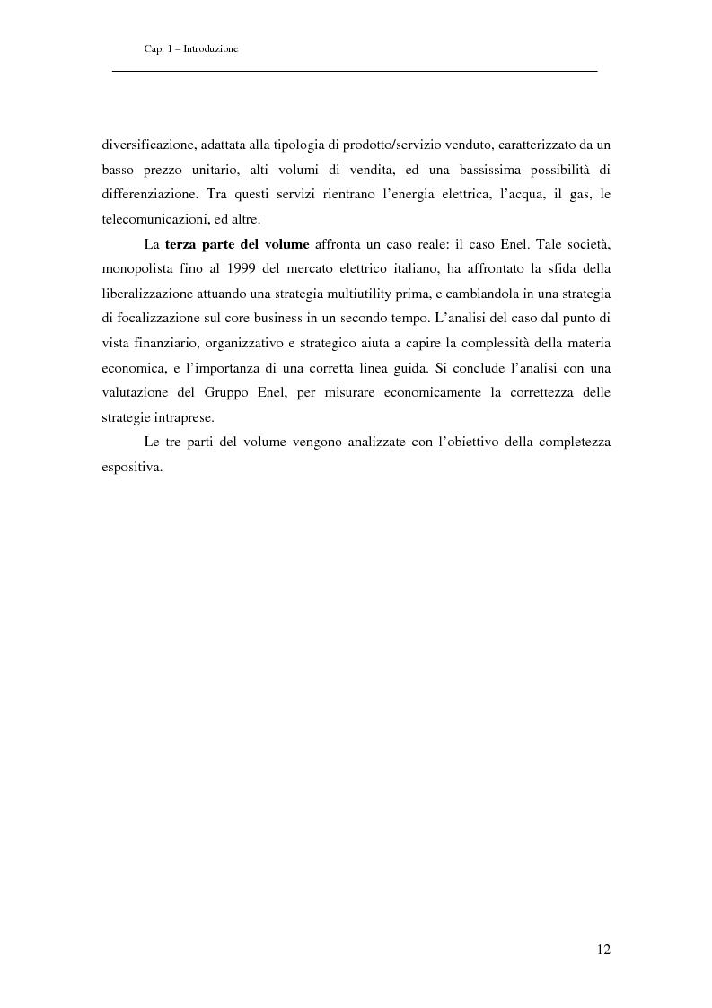 Anteprima della tesi: Analisi di Strategie di Business. Il Caso ENEL, Pagina 3