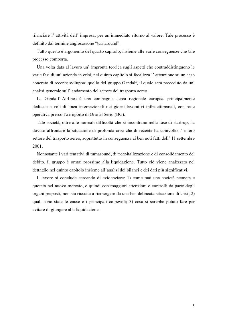 Anteprima della tesi: Crisi e ristrutturazione d'impresa: il caso Gandalf Airlines, Pagina 2