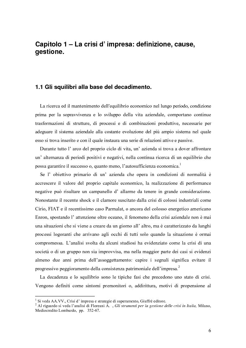 Anteprima della tesi: Crisi e ristrutturazione d'impresa: il caso Gandalf Airlines, Pagina 3