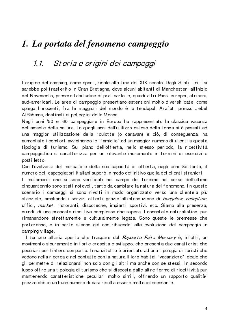 Anteprima della tesi: Il camping village, Pagina 1