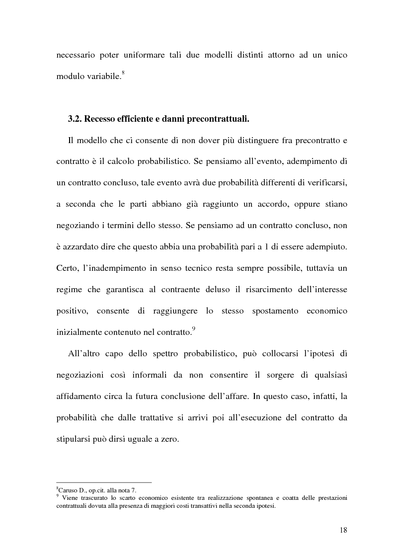 Anteprima della tesi: Analisi Economica del Diritto e Reponsabilita' Precontrattuale, Pagina 13