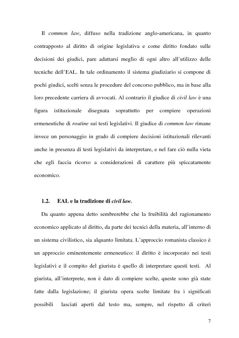 Anteprima della tesi: Analisi Economica del Diritto e Reponsabilita' Precontrattuale, Pagina 2