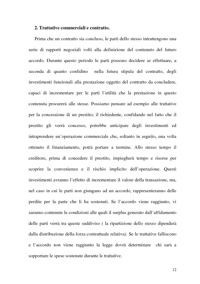 Anteprima della tesi: Analisi Economica del Diritto e Reponsabilita' Precontrattuale, Pagina 7