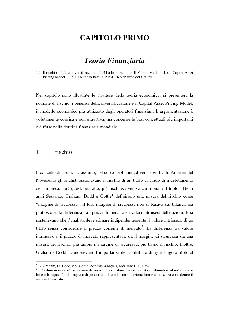 Il mercato azionario italiano: efficienza e anomalie - Tesi di Laurea